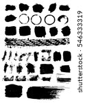 set of black paint  ink  grunge ... | Shutterstock .eps vector #546333319