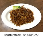 delicious fried noodles with... | Shutterstock . vector #546334297