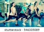 smiling females working out at... | Shutterstock . vector #546335089