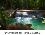waterfall at erawan national... | Shutterstock . vector #546336859