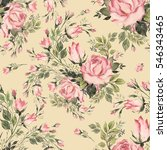 Seamless Pattern Bouquet Bud...