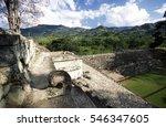 The Maya Ruins Of Copan In...