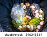 waste  food in garbage not...   Shutterstock . vector #546349864