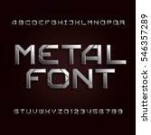 metal alphabet font. chrome... | Shutterstock .eps vector #546357289