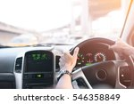 male driver hands holding... | Shutterstock . vector #546358849