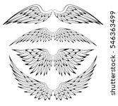 set of heraldic bird angel... | Shutterstock .eps vector #546363499