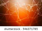 3d abstract polygonal orange... | Shutterstock . vector #546371785