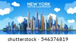 New York Skyline. Vector...
