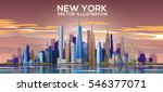 new york skyline. vector... | Shutterstock .eps vector #546377071