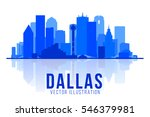 dallas texas skyline vector...   Shutterstock .eps vector #546379981