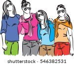 women friends together casual... | Shutterstock .eps vector #546382531