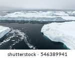 Scenic View Of The Glaciers In...