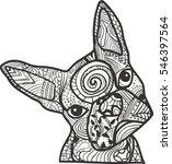 boston terrier or french... | Shutterstock .eps vector #546397564