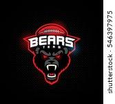bear mascot for a football team ...   Shutterstock .eps vector #546397975