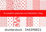 seamless pattern on valentine's ... | Shutterstock .eps vector #546398821