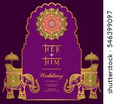 indian wedding invitation card... | Shutterstock .eps vector #546399097