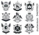 heraldic coat of arms... | Shutterstock . vector #546399829
