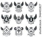 heraldic coat of arms... | Shutterstock . vector #546401827