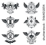 heraldic coat of arms... | Shutterstock . vector #546401854
