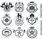 vintage decorative emblems... | Shutterstock . vector #546402484