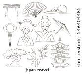 japan icon set. travel concept. ...   Shutterstock . vector #546404485