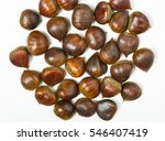 Many Ripe Chestnuts As...