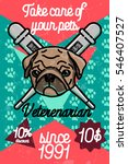 color vintage veterinarian...   Shutterstock . vector #546407527