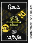 color vintage guns shop poster.  | Shutterstock . vector #546408121