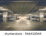 many cars in parking garage... | Shutterstock . vector #546410044