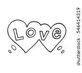 double heart speech bubble with ... | Shutterstock .eps vector #546414319