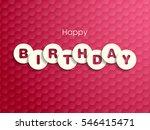 illustration of happy birthday... | Shutterstock .eps vector #546415471