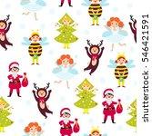 carnival kids seamless pattern
