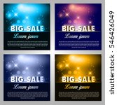 big sale on starry background.  | Shutterstock .eps vector #546426049