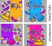 vector collection of fashion ... | Shutterstock .eps vector #546427681