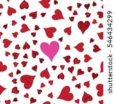 seamless pattern with hearts on ... | Shutterstock .eps vector #546434299