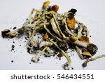 dried hallucinogen mushrooms | Shutterstock . vector #546434551