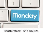 monday computer keyboard with...   Shutterstock . vector #546439621