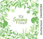 its spring time green card... | Shutterstock .eps vector #546440284