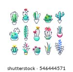 colorful vector icons' set of...   Shutterstock .eps vector #546444571
