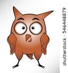 cute owl cartoon illustration | Shutterstock . vector #546448879