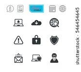 internet privacy icons. cyber... | Shutterstock .eps vector #546454645