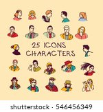 set colors people icons... | Shutterstock .eps vector #546456349