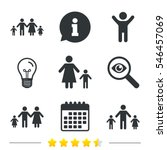 family with two children icon.... | Shutterstock .eps vector #546457069