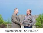 Two Elderly Man Outdoor