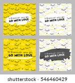 card set with lash  plus and... | Shutterstock .eps vector #546460429