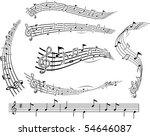 music notes staff | Shutterstock .eps vector #54646087