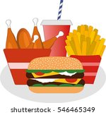 fast food icon | Shutterstock .eps vector #546465349