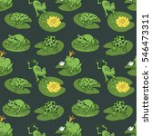 funny frog animal pattern | Shutterstock .eps vector #546473311