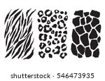 animal print set | Shutterstock .eps vector #546473935