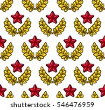 gold laurel wreath with star.... | Shutterstock .eps vector #546476959